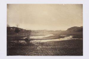 F.T., Queue d'étang à Roche, s.d. vers 1880. Épreuve  sur papier albuminé d'après négatif verre, 11.5x16, 5  cm. Coll. part.