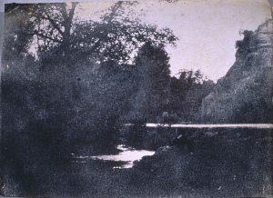 FAR. Crémieu, route de Tortu,positif sur papier salé,12,7x17,6cm