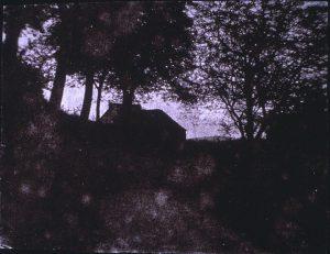 FAR, Ferme vers Crémieu, négatif papier horizontal, 14,2x18,6 cm, col.part