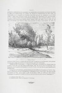F.T., reproduction d'un dessin de F.A. Ravier, Bords de la rivière d'Aix dans la plaine du Forez. In Le Forez pittoresque. Lyon. impr. Waltener. 1889