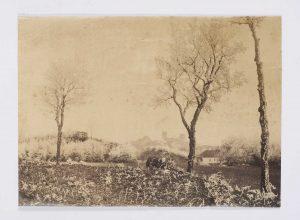 F.T., Morestel, jour de givre,  s.d. vers 1874-1888.  Épreuve sur  papier albuminé,  18x24 cm. Coll. part.