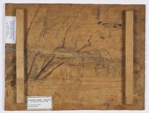 F.A.R.,, L'orée du bois. S.d. vers 1868. Huile sur panneau, verso croquis arbres penchés sur la droite.