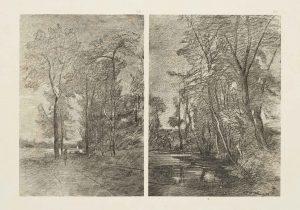 F.T., d'après un dessin de  Ravier,  Poncins, Loire, 1884. 1884. Héliogravure. 24x30 cm,  in Félix Thiollier, 1888, imp. Waltener, Lyon. Pl. 59-60