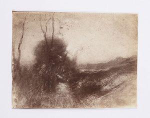 F.T., repro phot du dessin de  Ravier, Chemin montant au Château Saint-Hippolyte, L'Isle Crémieu, s.d. vers 1887 Épreuve  sur papier albuminé d'après négatif verre, 8x12 cm. Coll. part.