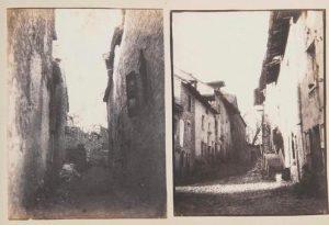 FAR, Rue à Crémieu 2 photographies 1852, positifs, 15,8x13cm, co.part.