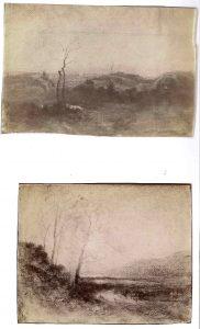 FT. 2 photos d'aquarelles FAR, atelier de Morestel 1896