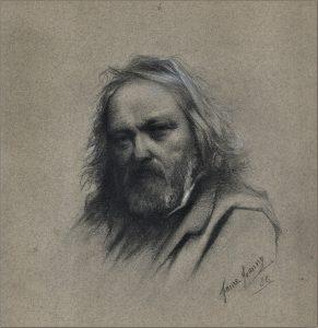 Johany FAURE, portrait de Ravier 32x29, sbd, 1888