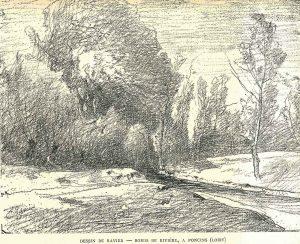F.A.R., rivière à Poncins, Forez, 1885
