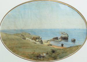 FAR,-Italie,-bord-de-mer--aq-sp,-28x42cm,-anc-coll-Ravier,-